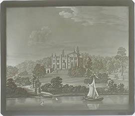 Ansicht des Babelsbergs, von der Wasserseite, bei Potsdam